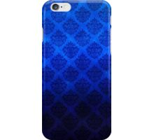 Royal Blue Vintage Damask Pattern with Grunge Texture iPhone Case/Skin