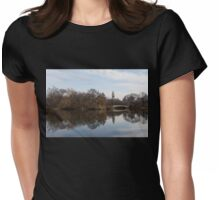 Central Park Bow Bridge - Manhattan, New York City Autumn Womens Fitted T-Shirt