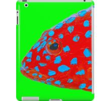 Strawberry Grouper Fish on green iPad Case/Skin