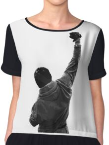 Never give UP! Rocky Balboa Chiffon Top