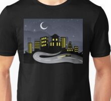 Night City and Road 2 Unisex T-Shirt