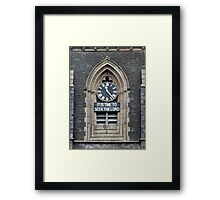 11:23. Its Time to Seek the Lord Framed Print