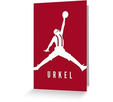 Steve Urkel Jumpman Logo Spoof 3 Greeting Card