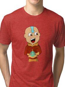 Cartoon Aang Tri-blend T-Shirt