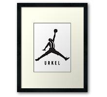 Steve Urkel Jumpman Logo Spoof 4 Framed Print