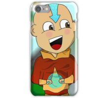 Cartoon Aang With Background iPhone Case/Skin