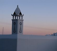 Mykonian rooftops at dusk by CiaoBella