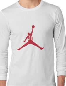 Steve Urkel Jumpman Logo Spoof 5 Long Sleeve T-Shirt