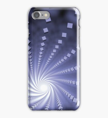 endless ranges of cubes in a spiral shape forming a vortex iPhone Case/Skin