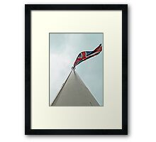 Run it up the flagpole, see if anybody salutes. Framed Print