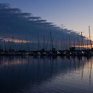 The Urge to Sail Away - Violet Sky Reflecting in Lake Ontario in Toronto, Canada by Georgia Mizuleva