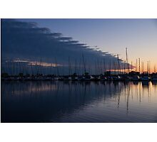 The Urge to Sail Away - Violet Sky Reflecting in Lake Ontario in Toronto, Canada Photographic Print
