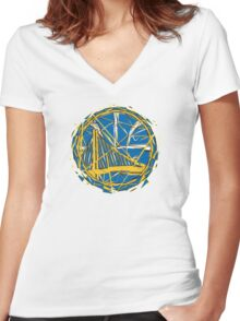 GSW LOGO Women's Fitted V-Neck T-Shirt