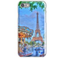 Eiffel Tower with carousel iPhone Case/Skin