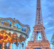 Eiffel Tower with carousel Sticker