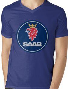 saab logo Mens V-Neck T-Shirt