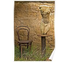 Chair and Sculpture Poster