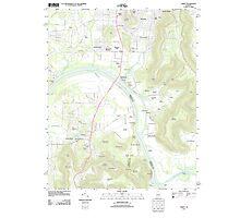USGS TOPO Map Alabama AL Farley 20110921 TM Photographic Print