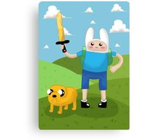 Finn and Jake Adventure Time Canvas Print