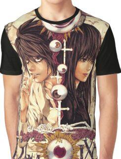 Death Note Misora Naomi & L Graphic T-Shirt