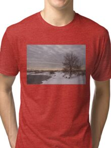 Pearly Grays and Ripples on the Winter Beach Tri-blend T-Shirt
