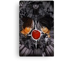 Death Note L vs Kira Canvas Print