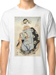 Matsubaya Uchi Yachiyo - Eizan Kikukawa - c1810 - woodcut Classic T-Shirt