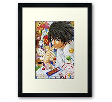 Death Note L  Framed Print