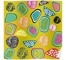 Fruit Market - Mustard Poster