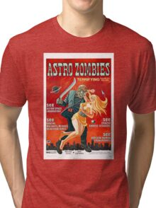 ASTRO ZOMBIES B MOVIE Tri-blend T-Shirt