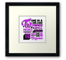 TWICE Collage Framed Print