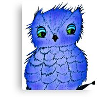 Blue Diamond Hootsie Canvas Print