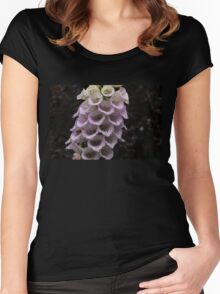 Exquisite Foxgloves Up Close Women's Fitted Scoop T-Shirt