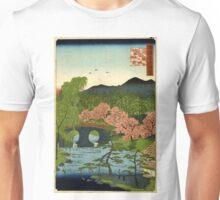 Megane Bridge At Otani In Yamashiro Province - Hiroshige Utagawa - 1859 - woodcut Unisex T-Shirt