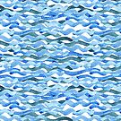 watercolor blue wave pattern by OlgaBerlet