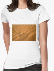 Desert sand dunes Womens Fitted T-Shirt