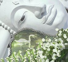 In the Garden - Quan Yin Lilies of the Valley by Diane Clancy