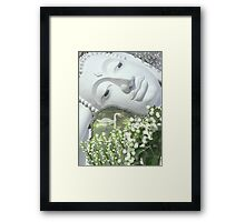 In the Garden - Quan Yin Lilies of the Valley Framed Print