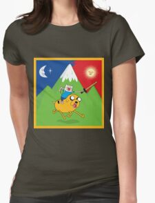 Finn & Jake Adventure Time Albert Hofmann Bikeride LSD Acid Trip Psychedelic Womens Fitted T-Shirt