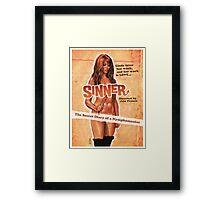 SINNER B MOVIE Framed Print