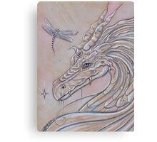 Unlikely Friends dragon and dragonfly Canvas Print