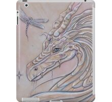 Unlikely Friends dragon and dragonfly iPad Case/Skin