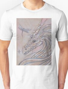 Unlikely Friends dragon and dragonfly Unisex T-Shirt