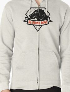 Diamond Dogs Zipped Hoodie