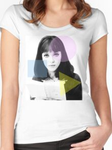 Anna Karina  - French New Wave Women's Fitted Scoop T-Shirt