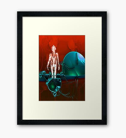 Cyborg factory Framed Print