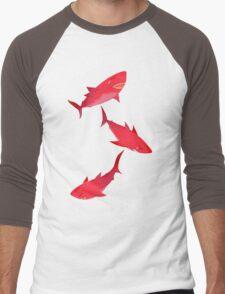 Sakura Shark Men's Baseball ¾ T-Shirt