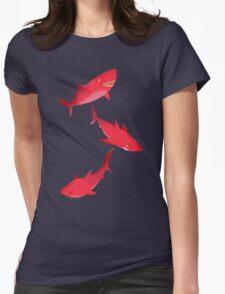 Sakura Shark Womens Fitted T-Shirt