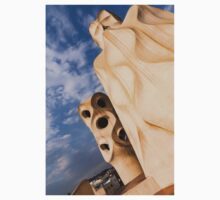 Whimsical Chimneys - Antoni Gaudi's Casa Mila in Barcelona, Spain One Piece - Short Sleeve