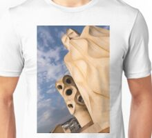 Whimsical Chimneys - Antoni Gaudi's Casa Mila in Barcelona, Spain Unisex T-Shirt